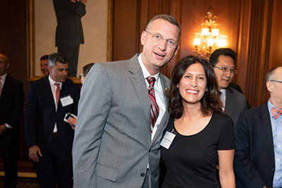 BSA President and CEO Victoria Espinel with Rep. Doug Collins.