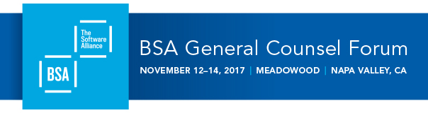 Banner for the 2017 BSA General Counsel Forum